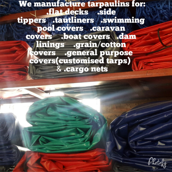 HEAVY DUTY TARPAULINS&CARGO NETS FOR SALE ALL SIZES,ALL COLOURS