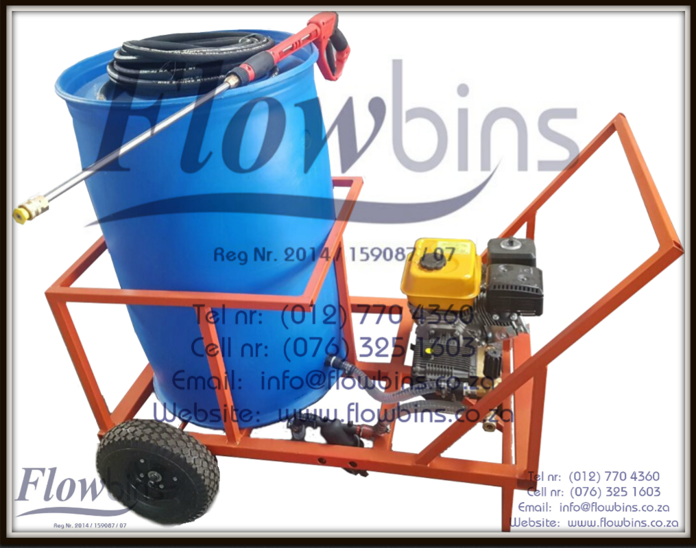 FLOWBINS SA - CAPE TOWN: Rain Capture units, Water Bowsers, Fire Fighters, Diesel Bowsers, High pressure washers, 1000Lt Flowbin tanks & Adaptors, Water Pumps, Aquaponics, 210L Blue Drums, Honey Sucker (Sewerage water) uits, Trailer units