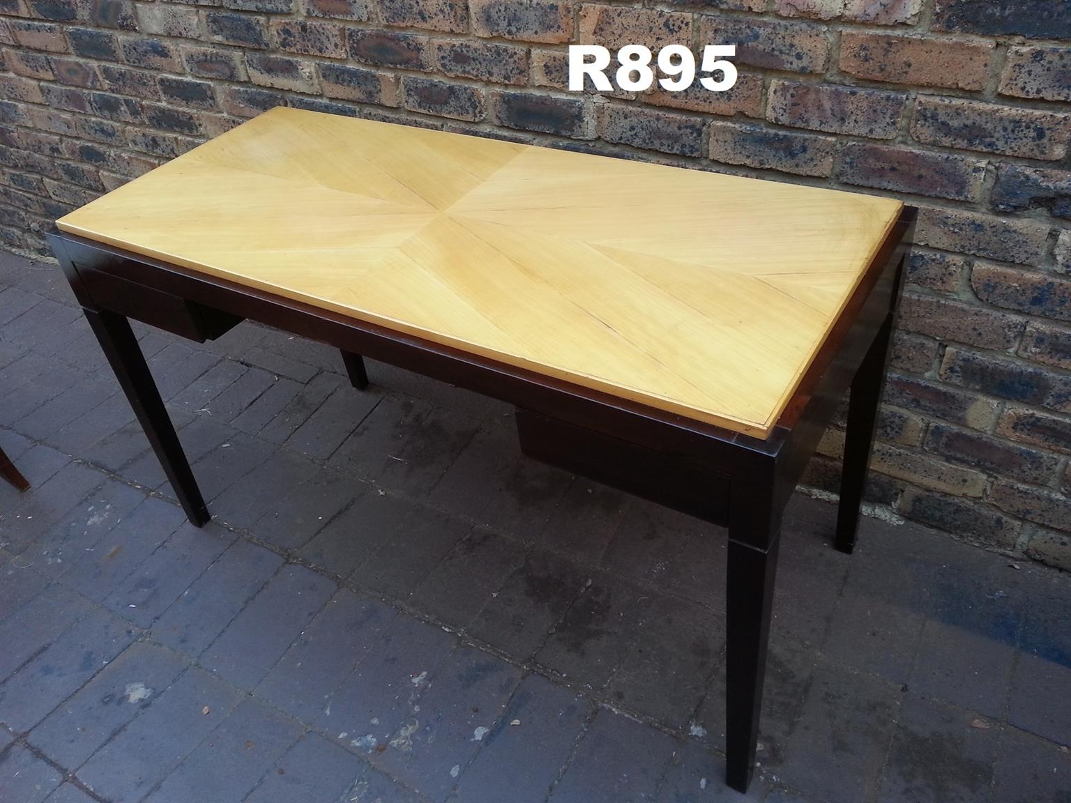 Yellow Wood and Imbuia Desk Server Table (1350x600x760)