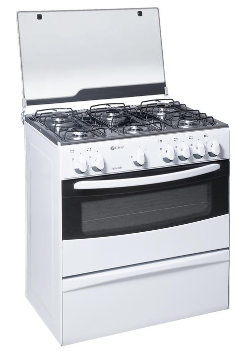 6 PLATE GAS STOVE AND OVEN - WHITE