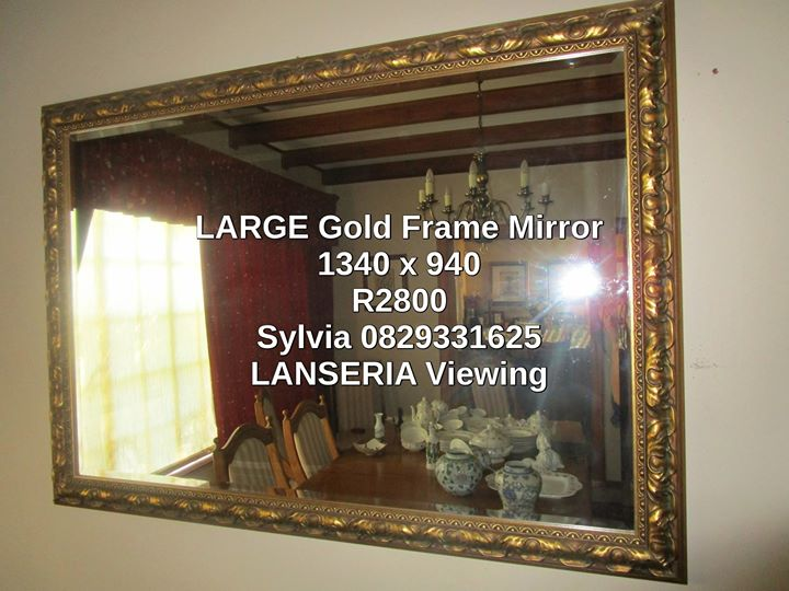 LARGE Gold Framed Mirror 940x1340 Viewing Lanseria