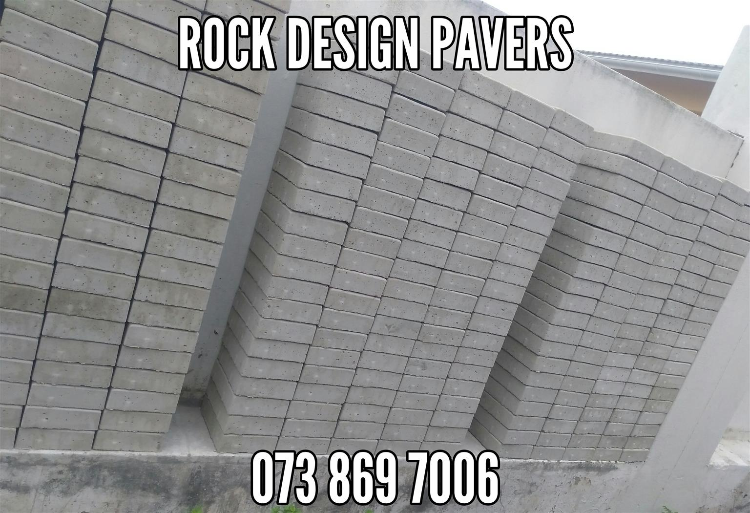 400 ROCK Face Pavers TO CLEAR! Paving Blocks
