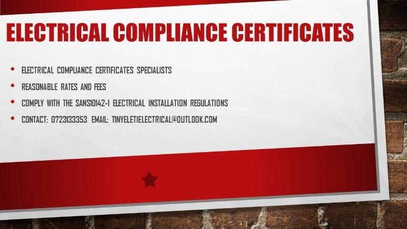 Electrical Compliance Certificate, Installation & Maintenance