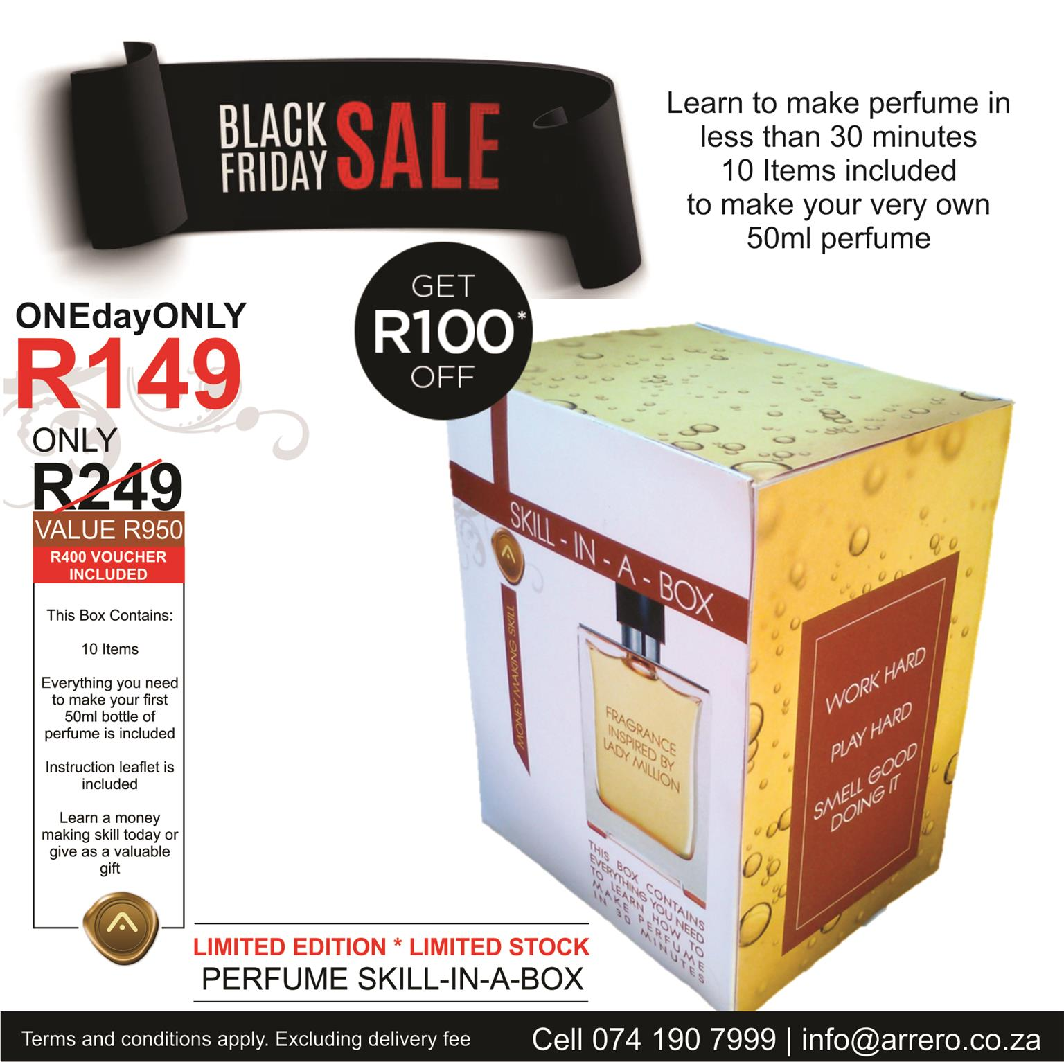 TODAY ONLY ! Black Friday Perfume Skill in a box only R149