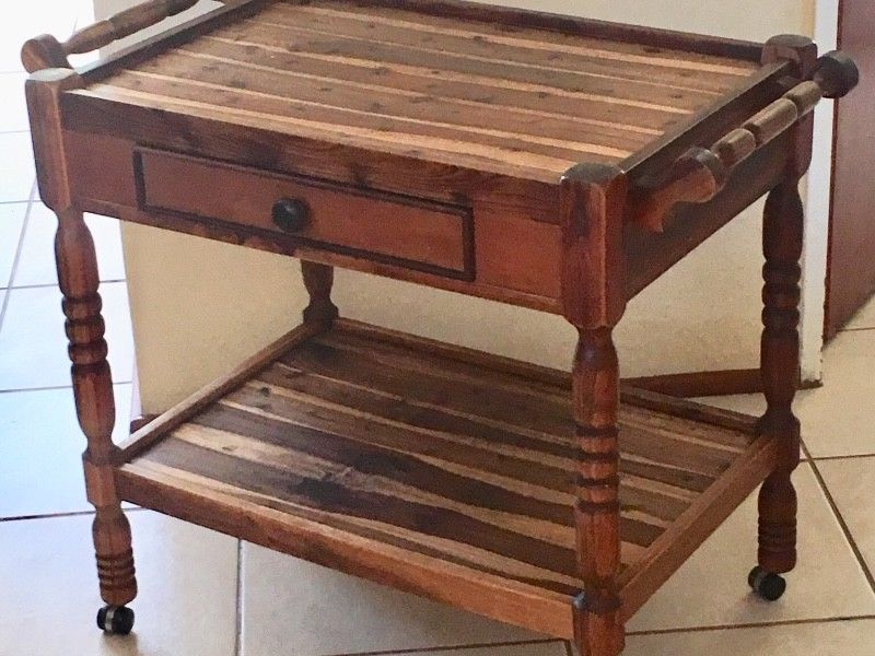 Solid Blackwood Trolley