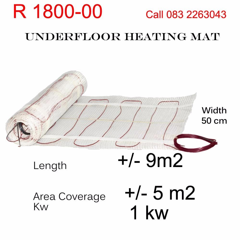 DIY Undertile Mesh Mat Heaters
