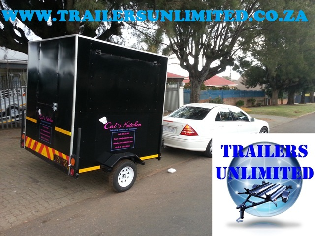 CATERING TRAILERS WITH EQUIPMENT.