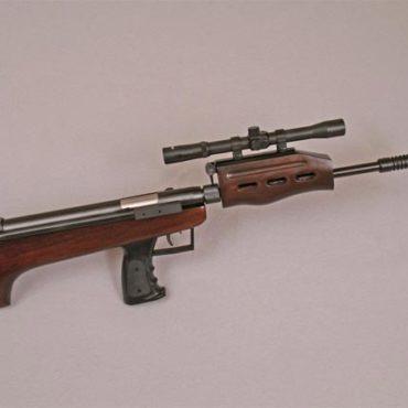 Air rifle in case