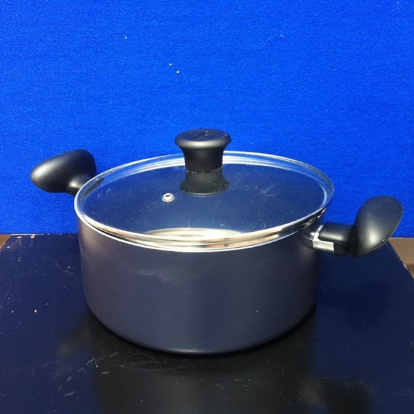Gray pot with lid for sale