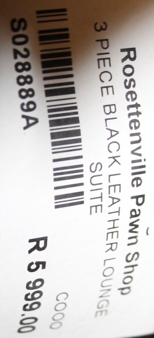 Leather lounge suite S028889a #Rosettenvillepawnshop