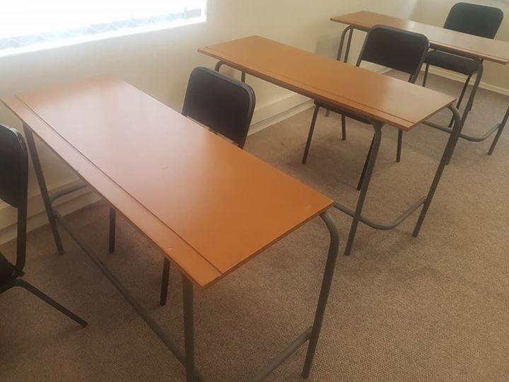 8 Desks And Chairs