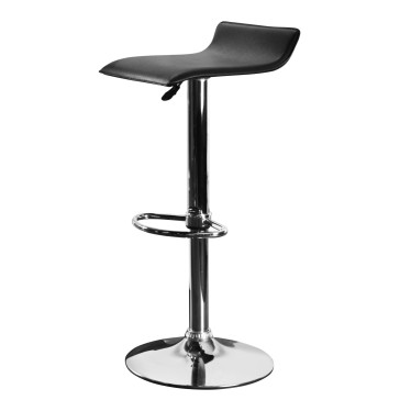 New Bar Stools Black Leather and Chrome for sale