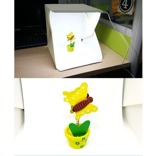 Portable Folding Mini Lightbox Photography Studio LED Light Softbox