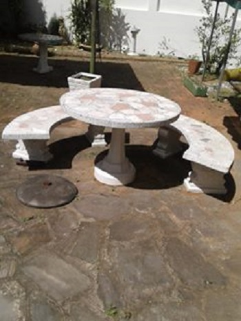 Groovy Concrete Table And 2 Benches Junk Mail Pdpeps Interior Chair Design Pdpepsorg