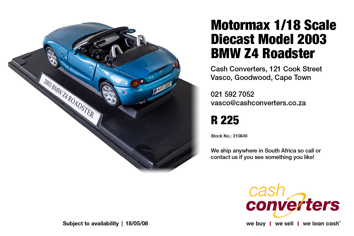 Motormax 1/18 Scale Diecast Model 2003 BMW Z4 Roadster