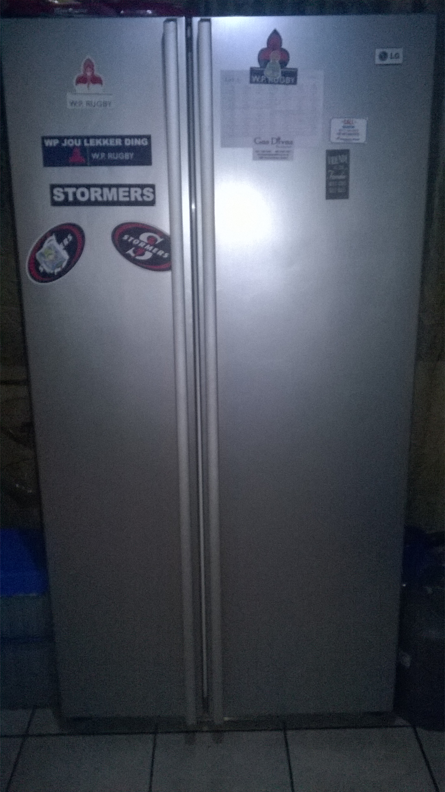 LG dubbledoor fridge freezer for sale