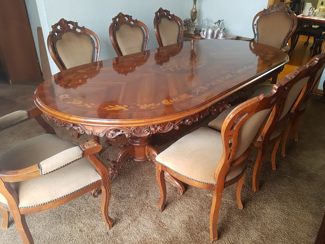 Victorian set  8 CHAIRS includes 2 x Carvers, TABLE ,SIDEBOARD