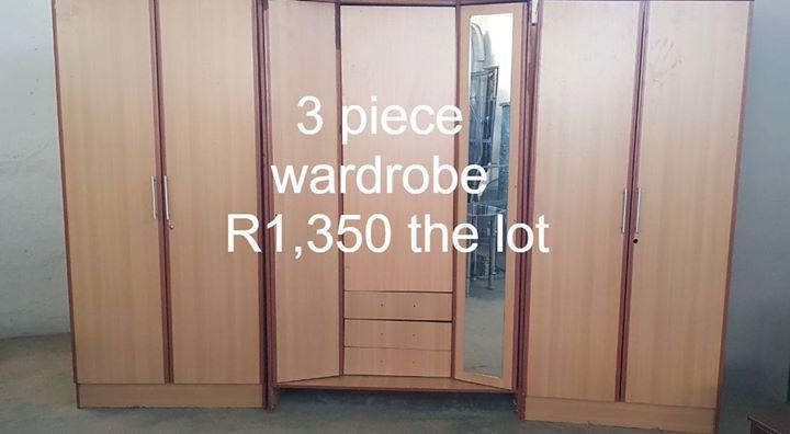 3 Piece wardrobe