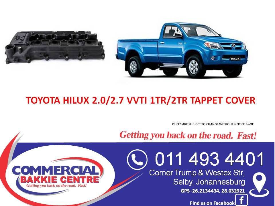 toyota hilux vvt 2.0/2.7 petrol tappet cover