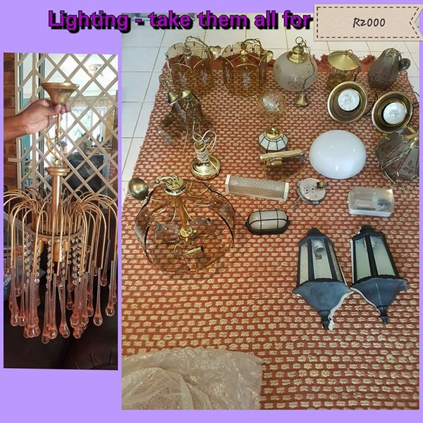 Various lighting for sale