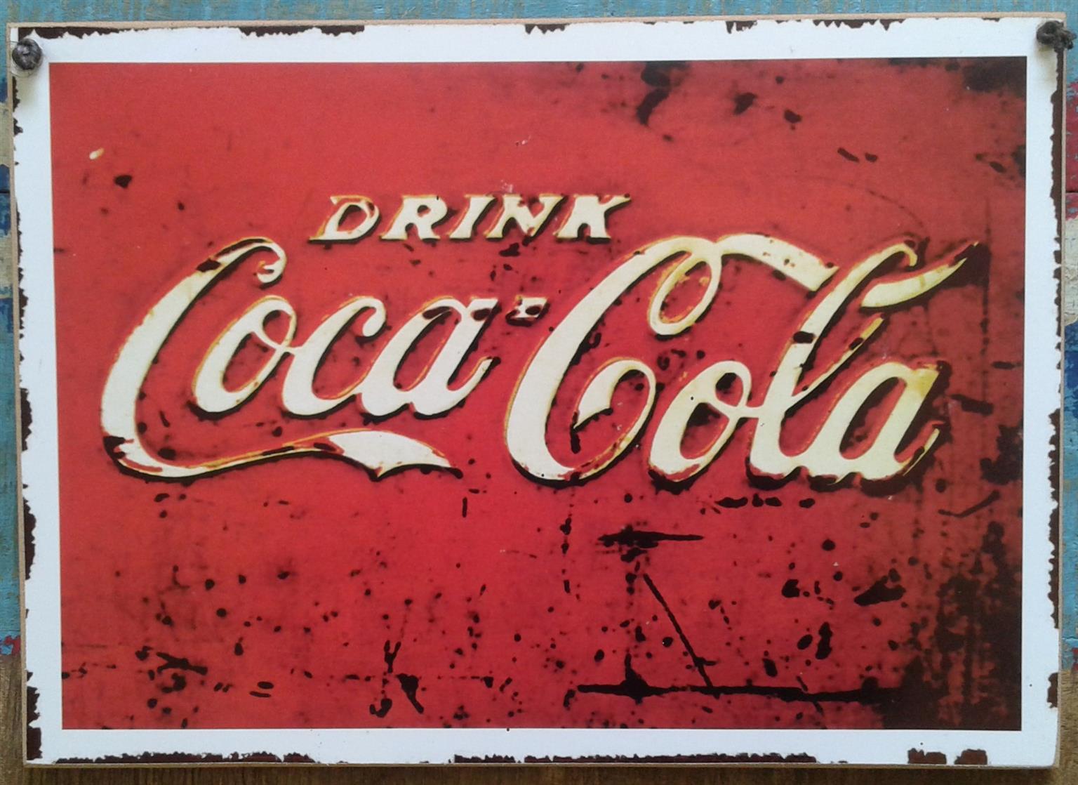 Wall Decor/ A4 Coca-Cola Metal Plaque