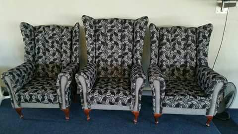 Wingback chairs and corner couches