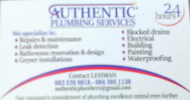 Quality Plumbing Services in Gauteng