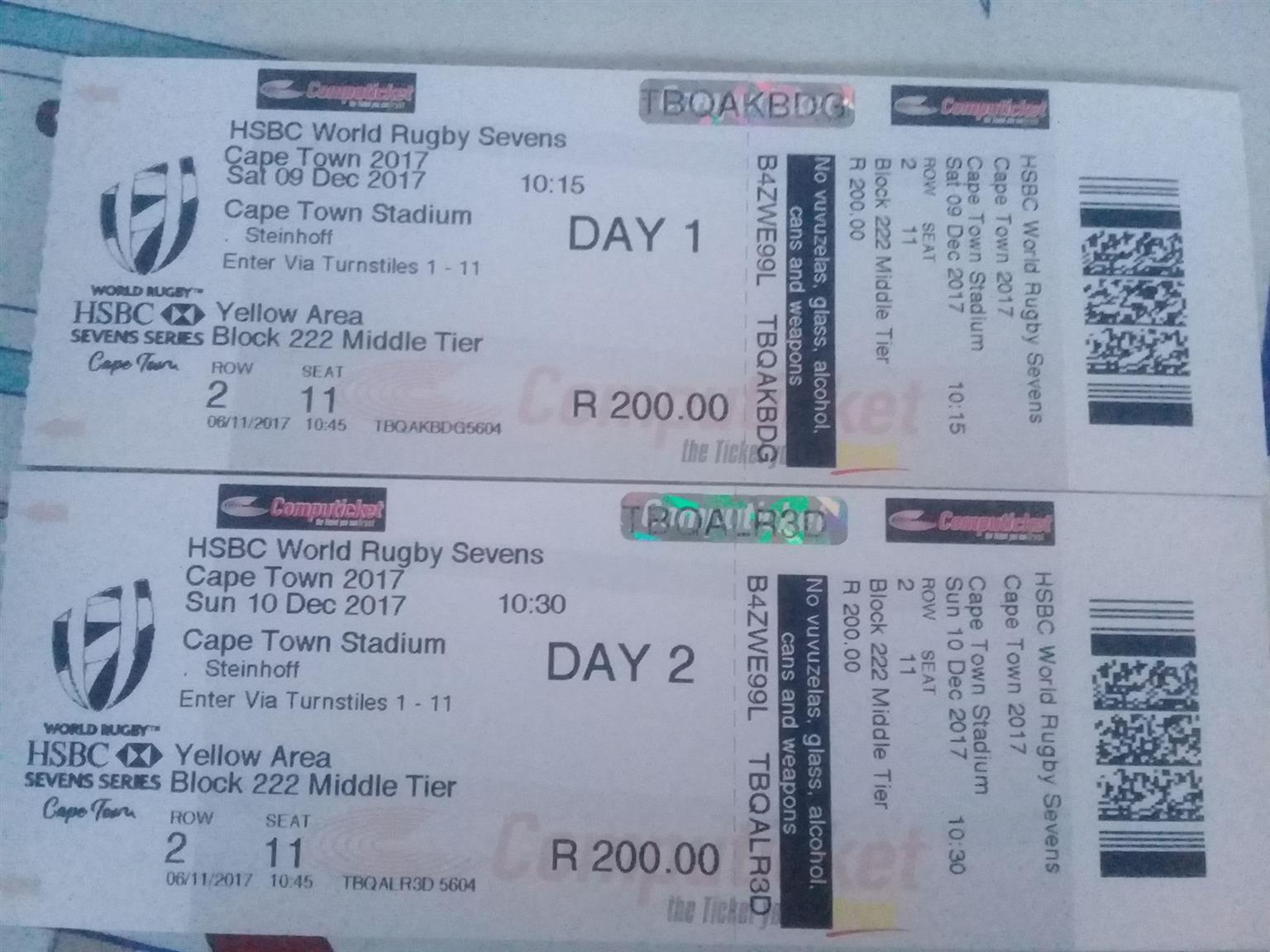 Cape Town Sevens tickets for sale