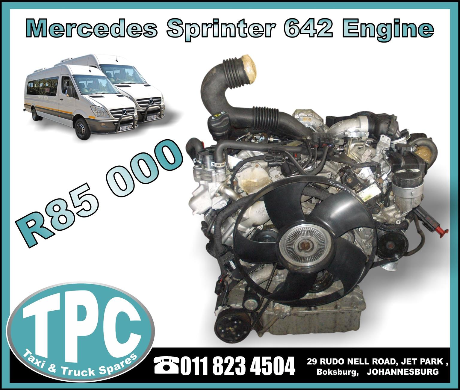 Mercedes Sprinter 642 Engine - USED - New And Used Replacement Parts ...