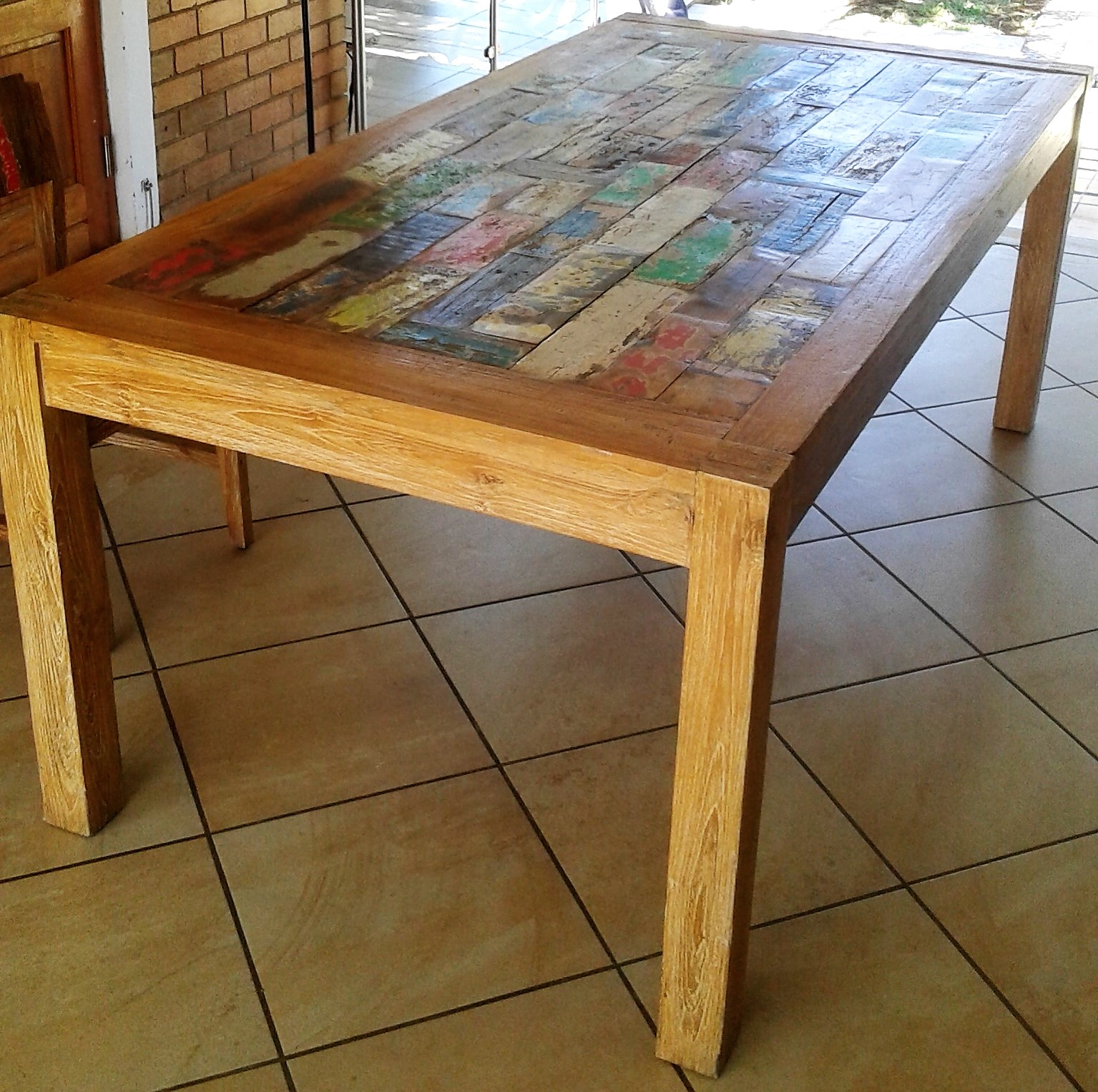 Home Decor Boat Wood Dining Table
