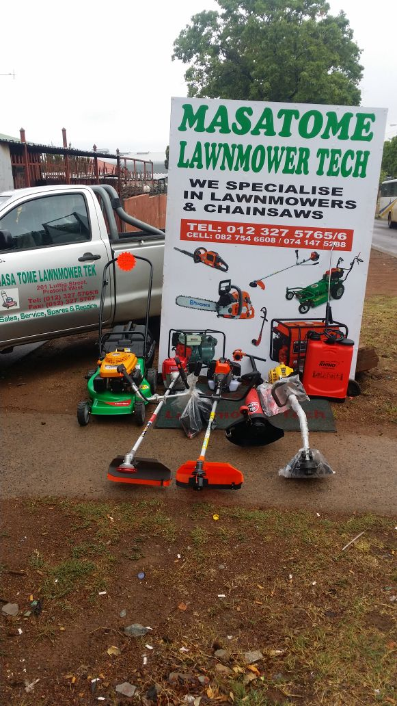 Lawnmowers and brush cutters for sale
