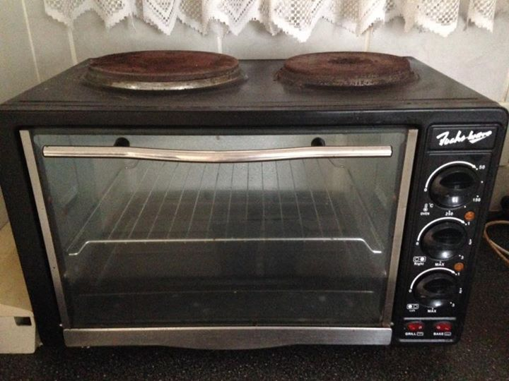 2 plate stove/oven
