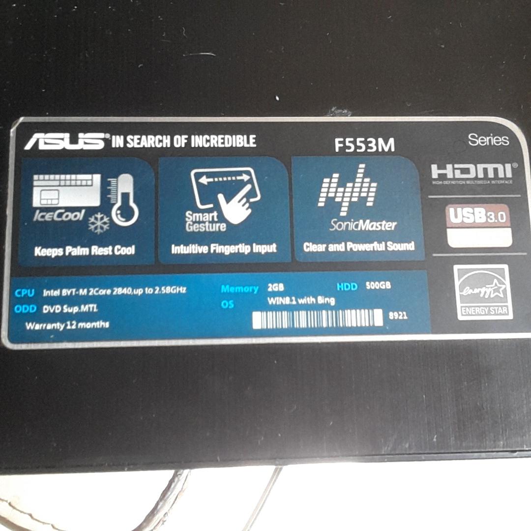 Asus F553M laptop and delphi e150 diagnostic scanner | Junk Mail