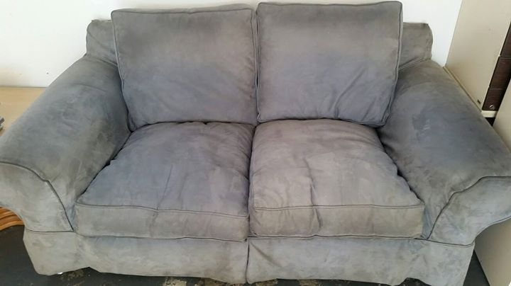 Large suede couches for sale