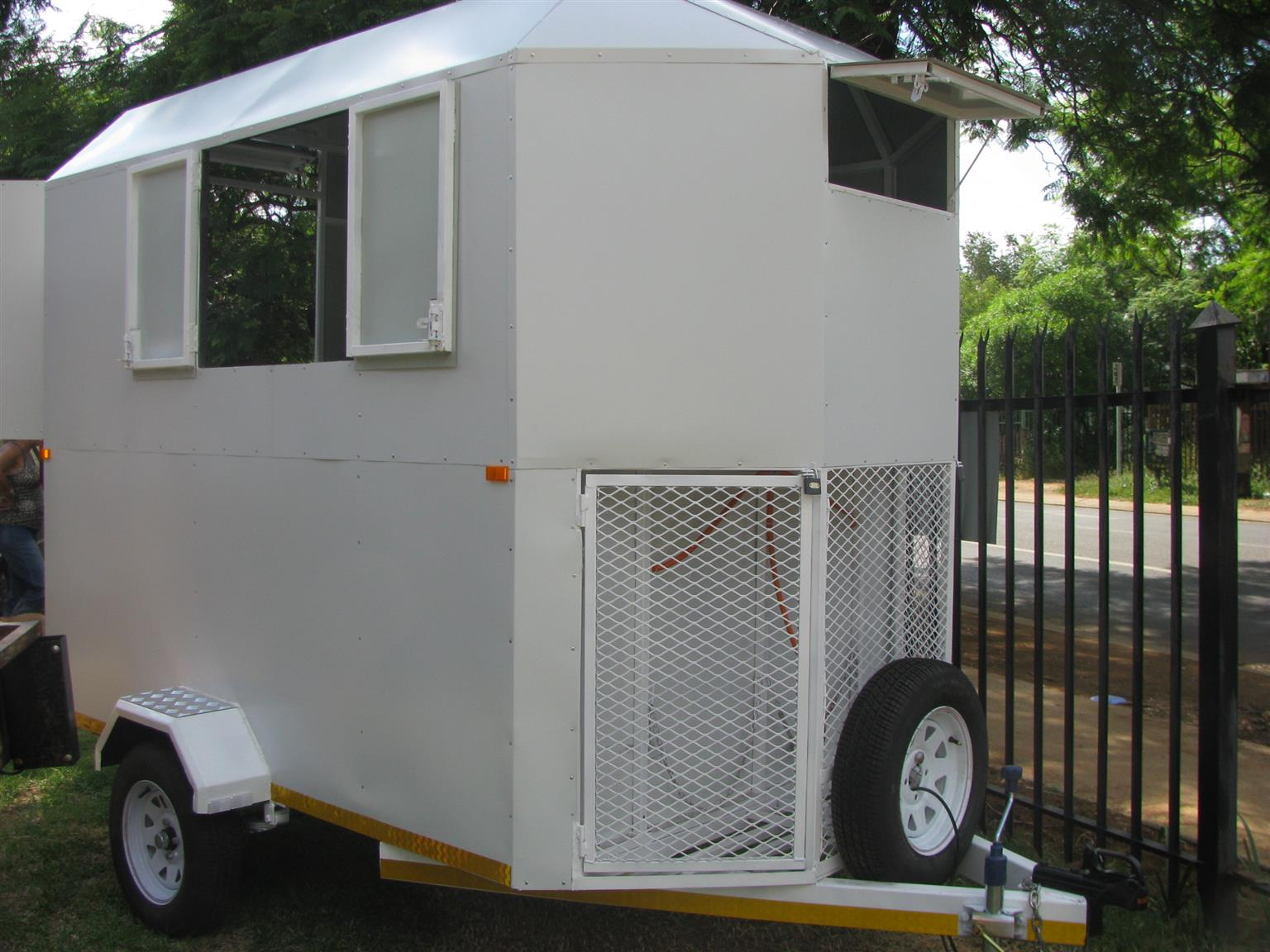 A. MOBILE FOOD KITCHEN TRAILER