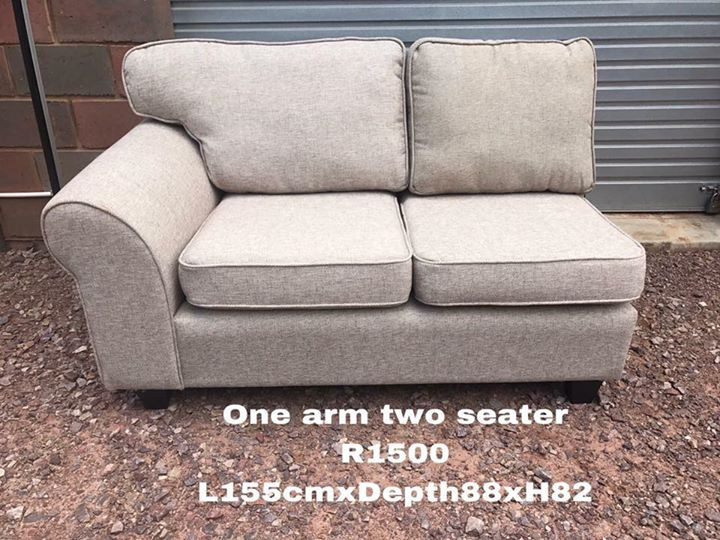 One arm two seater couch