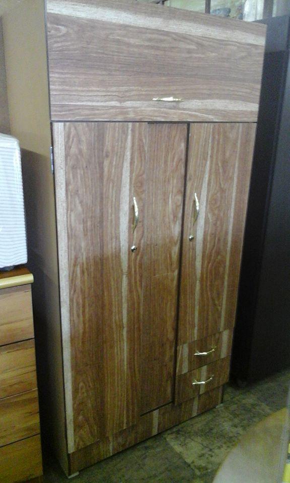 3 Door wooden streak closet