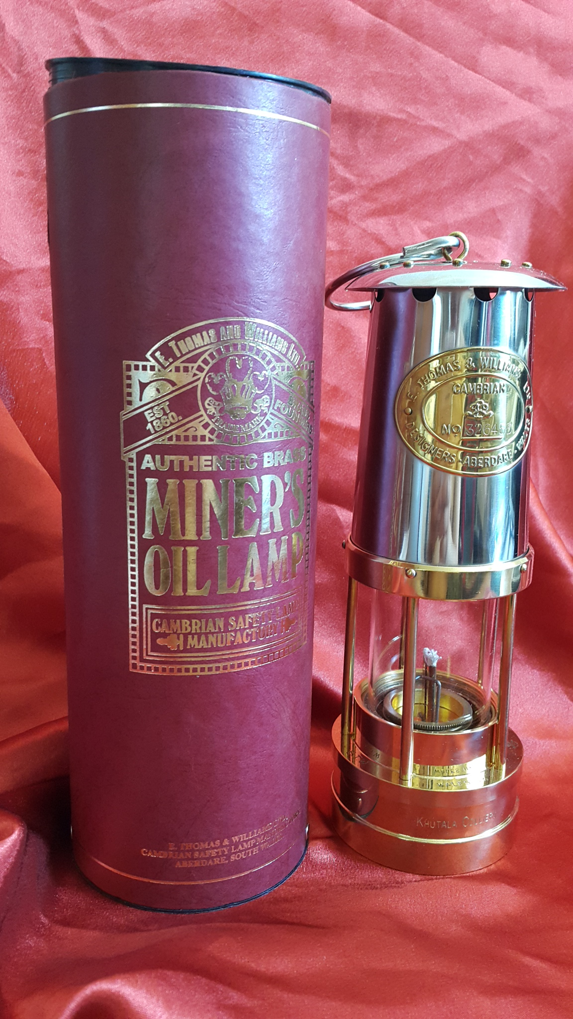 Cambrian Miner's safety lamp
