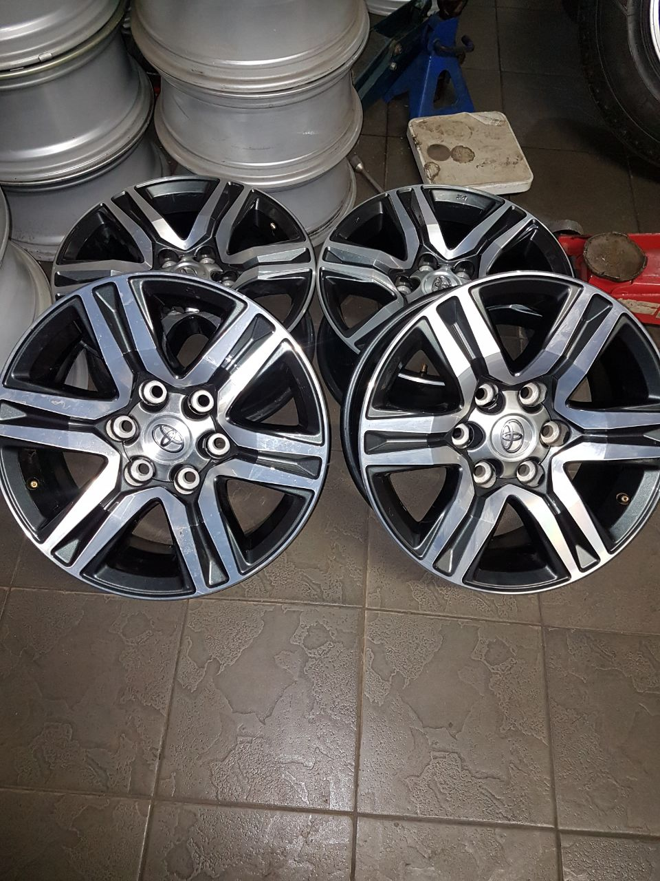 """Bridgestone dueler A/T 265/65/R17 Tyres and new toyota fortuna 17"""" mags  rims for R10999 {Set of 4} prices include fitment"""