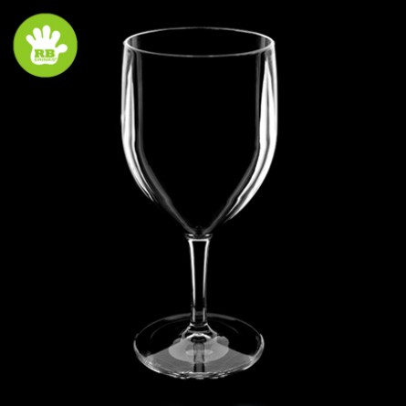 6x Clear Wine Glasses