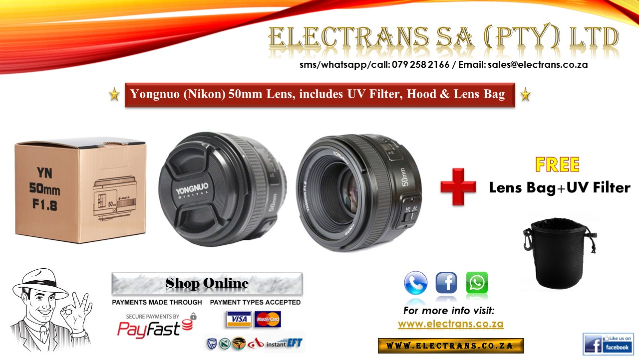 (Nikon) YONGNUO *Prime Lens* 50MM F/1.8 ~ Electrans SA
