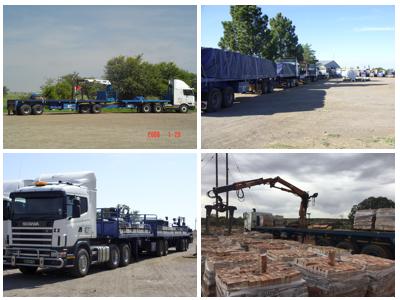Transportation of all brick, paving, building materials