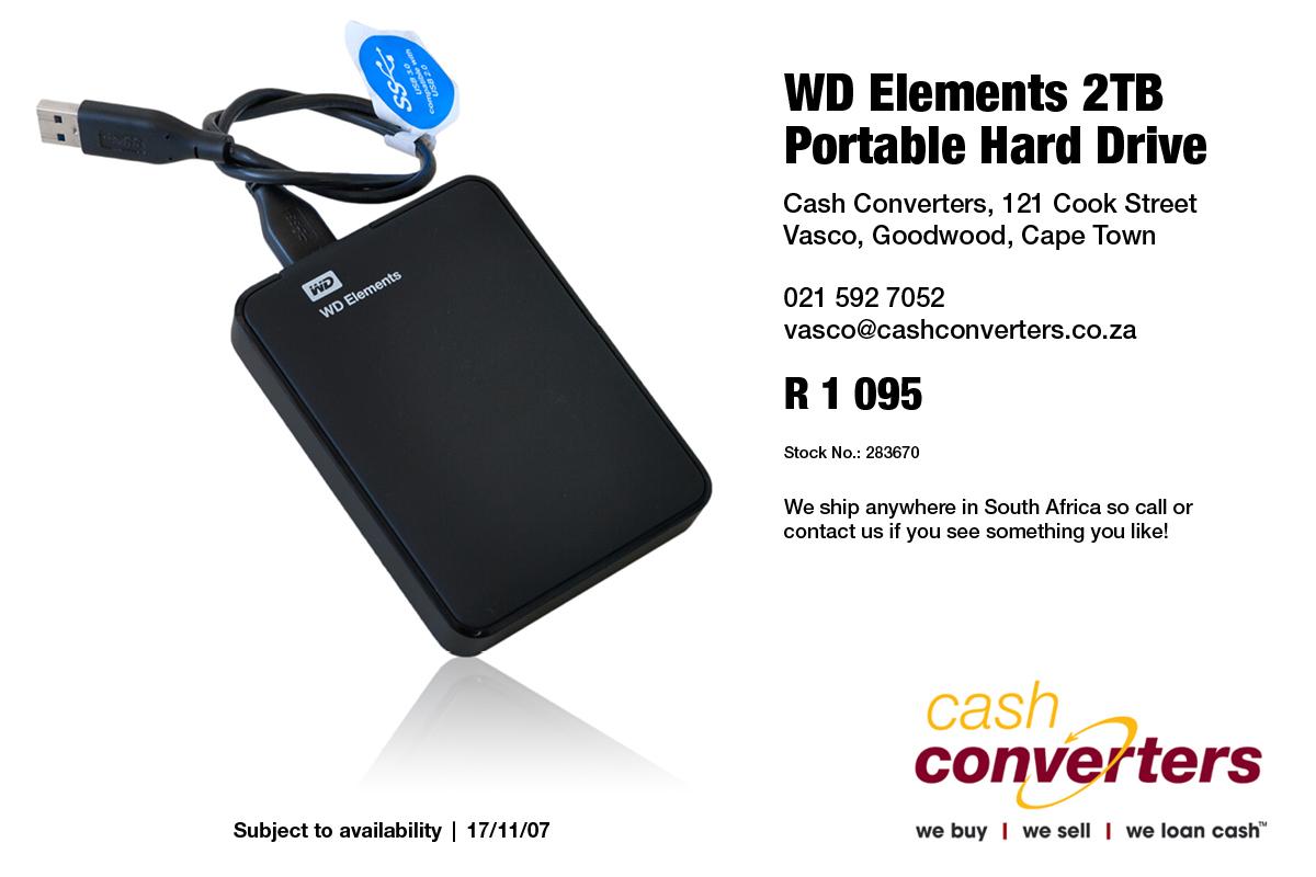 WD Elements 2TB Portable Hard Drive