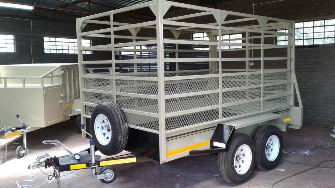 3M DOUBLE AXLE CATTLE TRAILER WITH BRAKES FOR SALE