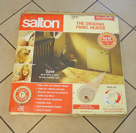 New Salton wall mount heater R100