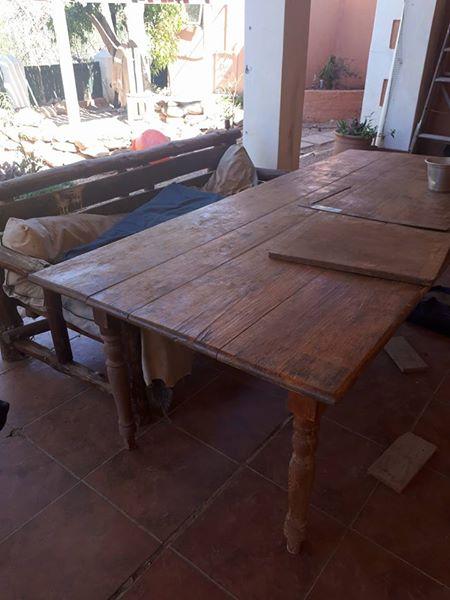 Groot patio tafel met bench