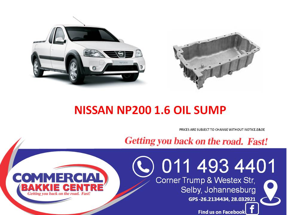 nissan np200 1.6 oil sump new