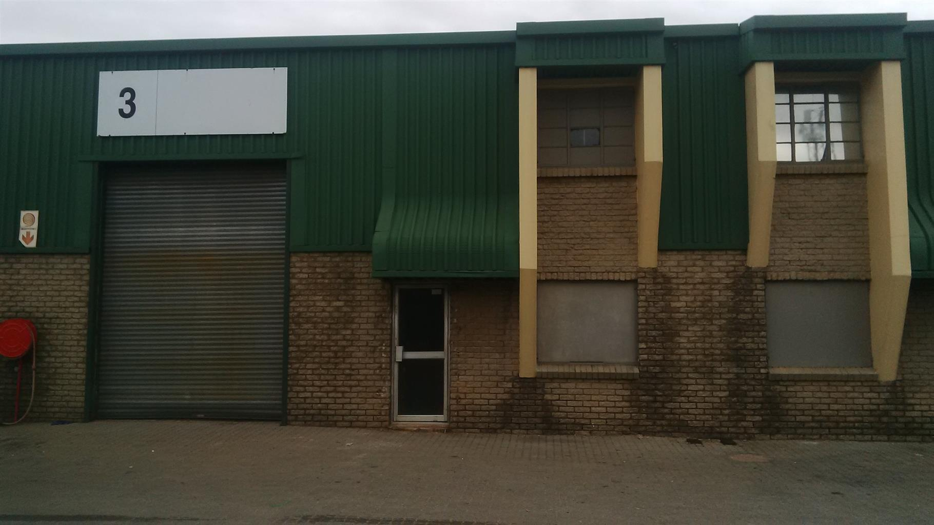 Industrial warehouse space available to let.