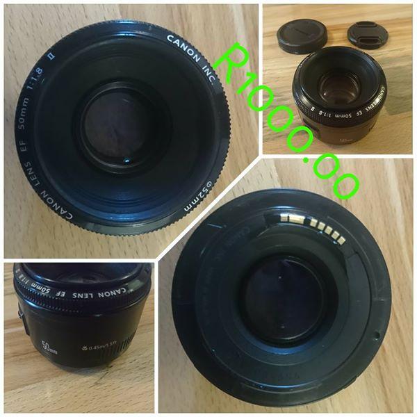 Canon dsrl 50mm lens