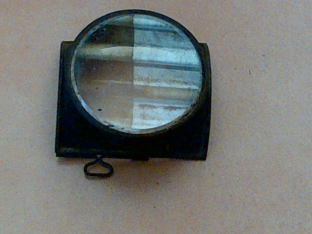 Antique British Railway Oil Lamp Lens and Front Section. Lens is 130mm in diameter.